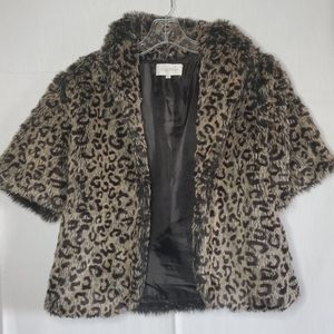 Faux Fur Cheeta Print Over Coat